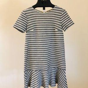LOFT Striped Drop Waist Dress